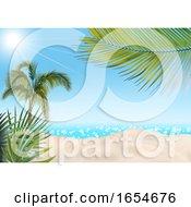 3d Tropical Beach Backdrop