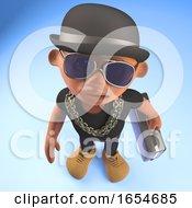 Entrepeneur Black Hiphop Rapper Wearing A Bowler And Holding A Briefcase 3d Illustration