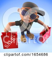 Cool Rap Hiphop Artist Has Been Shopping At The Sales 3d Illustration
