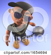 Cool Hip Hop Rapper Dude Held Back By A Ball And Chain 3d Illustration