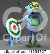 Undead Zombie Monster Is Not The Target Fool 3d Illustration