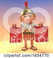 Roman Centurion Soldier Holding Shopping Bags After Visiting The Sale 3d Illustration by Steve Young