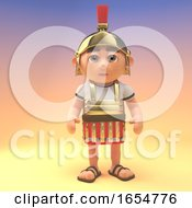 Disciplined Roman Centurion Soldier Stands To Attention 3d Illustration by Steve Young