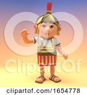 Cheerful Roman Centurion Soldier Waves A Friendly Hello 3d Illustration by Steve Young