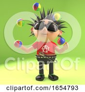 Vicious Punk Rocker Takes A Break And Does Some Juggling 3d Illustration