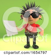 Vicious Punk Rock Dude Holding An Envelope With A Letter Inside 3d Illustration