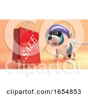 Poster, Art Print Of Puppy Dog On Mars In Spacesuit Finds A Sale Shopping Bag 3d Illustration