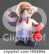 Mad Scientist Ordered The Wrong Size Tack 3d Illustration