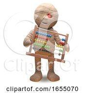 Undead Egyptian Mummy With Abacus 3d Illustration