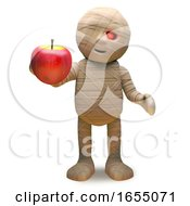 Cartoon Undead Mummy Monster Wants To Eat An Apple 3d Illustration by Steve Young