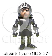 The Brave Heroic Medieval Armour Clad Stands Proud3d Illustration