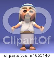 Cartoon Holy Jesus Christ Beckons 3d Illustration