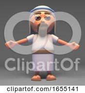 The Messiah Jesus Christ Son Of God With Arms Outstretched 3d Illustration