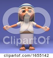 Cartoon Holy Jesus Christ With Arms Outstretched 3d Illustration