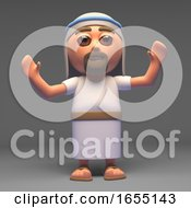 The Son Of God Jesus Christ The Messiah With Arms In The Air 3d Illustration