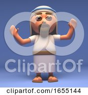Cartoon Holy Jesus Christ With Arms Raised 3d Illustration