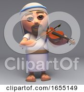 The Saviour Jesus Christ Son Of God Playing The Violin 3d Illustration