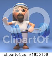 Cartoon Holy Jesus Christ Can Lift Any Weight 3d Illustration
