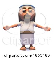 Holy Jesus Christ Son Of God With Arms Outspread 3d Illustration
