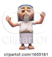 The Messiah Jesus Christ Cheering With Joy 3d Illustration