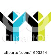 Abstract Cheering People Icon