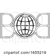 07/01/2019 - Black And White Letter B And Globe Logo