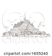 Le Mont Saint Michel Normandy France Sketch