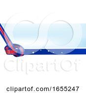 Australian Ribbon Flag Knot Background
