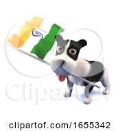 Poster, Art Print Of Cool Puppy Dog Holds The Indian Flag