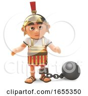 Punished Roman Centurion Soldier Wears Ball And Chain by Steve Young