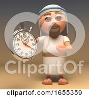 The Messiah Jesus Christ Holding A Stopwatch Timer