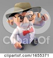 World Travelling Mad Scientist In Australian Bush Hat