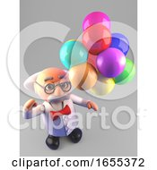 Celebrating Mad Scientist Professor With Party Balloons