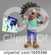 Happy Black Man With Dreadlocks Paying With His Credit Card