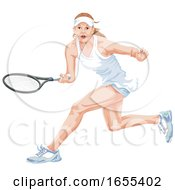 Woman Playing Tennis by Morphart Creations