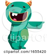 Green Monster Laughing At Somebody Vector Illustration by Morphart Creations