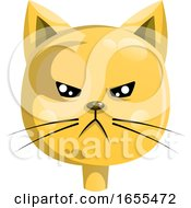 Angry Yellow Cat Vector Illustration