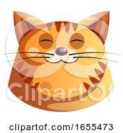 Happy Orange Cat Vector Illustration by Morphart Creations