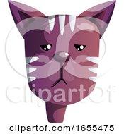 Cartoon Purple Cat Vector Illustration by Morphart Creations