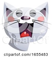 Angry Grey Cartoon Cat Vector Illustration