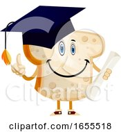 Graduating Bread Illustration Vector by Morphart Creations