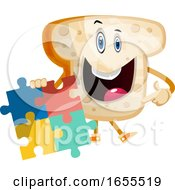 Poster, Art Print Of Puzzle Bread Illustration Vector