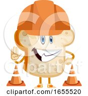Toast With Hat Illustration Vector