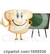 Blackboard Bread Illustration Vector
