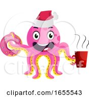 Pink Party Octopus Illustration Vector by Morphart Creations