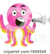 Octopus With A Speakerphone Illustration Vector by Morphart Creations
