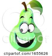 Happy Pear Cartoon Face Illustration Vector