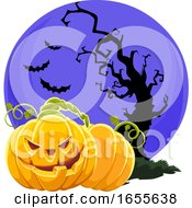 Vector Of Scary Halloween Background by Morphart Creations