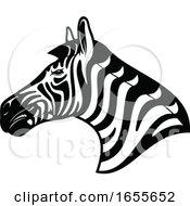 Black And White Profiled Zebra Head