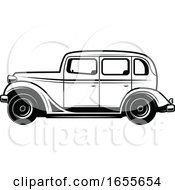 Black And White Vintage Car